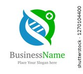 dna logo with people or leave.... | Shutterstock .eps vector #1270104400