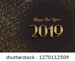 new year 2019 typography ... | Shutterstock . vector #1270112509