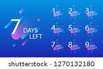 number of days left badge  for... | Shutterstock .eps vector #1270132180