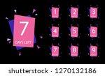 number of days left badge  for... | Shutterstock .eps vector #1270132186