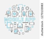 mobile app vector concept...