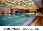 luxury swimming pool part of... | Shutterstock . vector #1270133539