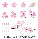 cherry tree icon set | Shutterstock .eps vector #1270149619
