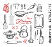 cooking classes and kitchen... | Shutterstock .eps vector #1270152496