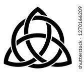 triquetra in circle trikvetr... | Shutterstock .eps vector #1270166209