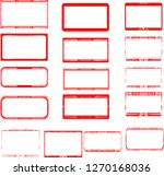grunge post stamps collection ... | Shutterstock .eps vector #1270168036