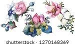 pink floral botanical flower...   Shutterstock . vector #1270168369