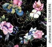 pink floral botanical flower...   Shutterstock . vector #1270168546