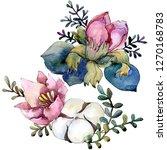 pink floral botanical flower... | Shutterstock . vector #1270168783