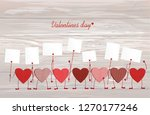 red hearts with legs and hands...   Shutterstock .eps vector #1270177246