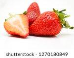 red tasty strawberries | Shutterstock . vector #1270180849