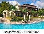 building of the luxury hotel   Shutterstock . vector #127018364