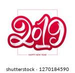 vector illustration  red hand... | Shutterstock .eps vector #1270184590
