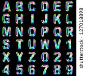 illustration of alphabet font... | Shutterstock . vector #127018898