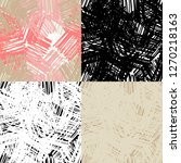 set of 4 seamless pattern of... | Shutterstock .eps vector #1270218163