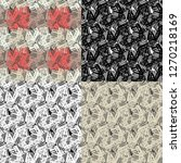 set of 4 seamless pattern of... | Shutterstock .eps vector #1270218169
