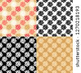 set of 4 seamless pattern of... | Shutterstock .eps vector #1270218193