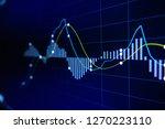 stock exchange market graph on...   Shutterstock . vector #1270223110
