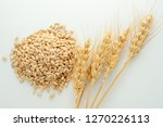 wheat spike and grains   Shutterstock . vector #1270226113