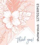 retro vintage coral tropical... | Shutterstock .eps vector #1270230913