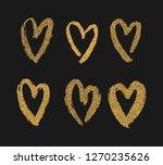 vector gold paint hearts set... | Shutterstock .eps vector #1270235626