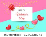 Stock vector valentines day festive composition with two red rose hearts with golden stripe and red rose petals 1270238743