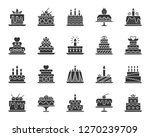 cake dessert icons set. sign... | Shutterstock .eps vector #1270239709
