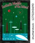 vintage retro future space... | Shutterstock .eps vector #1270243690