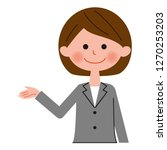 a female businessperson  guide | Shutterstock .eps vector #1270253203