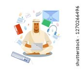 muslim man in traditional...   Shutterstock .eps vector #1270266496