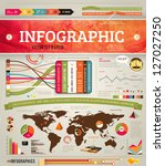 set elements of infographics... | Shutterstock .eps vector #127027250