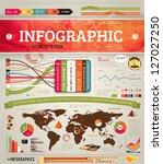 set elements of infographics... | Shutterstock .eps vector #127027250
