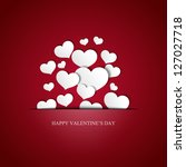 valentine's day card   eps10 | Shutterstock .eps vector #127027718