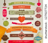 set of vector retro ribbons ... | Shutterstock .eps vector #127027724