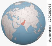pakistan on the globe. earth...   Shutterstock .eps vector #1270283083