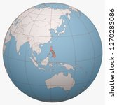 philippines on the globe. earth ...   Shutterstock .eps vector #1270283086