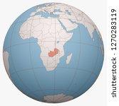 zambia on the globe. earth...   Shutterstock .eps vector #1270283119
