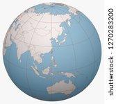 taiwan on the globe. earth... | Shutterstock .eps vector #1270283200