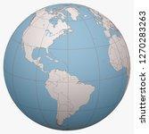 saint lucia on the globe. earth ... | Shutterstock .eps vector #1270283263