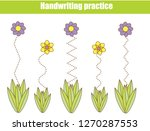 handwriting practice sheet.... | Shutterstock .eps vector #1270287553