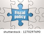 fiscal policy word on jigsaw... | Shutterstock . vector #1270297690