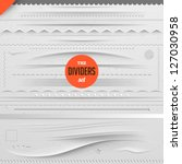 Big set of vector dividers for web design with seamless paper background, eps 10 | Shutterstock vector #127030958