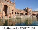 plaza of spain  seville . plaza ... | Shutterstock . vector #1270323160