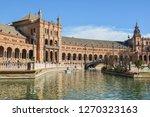 plaza of spain  seville . plaza ... | Shutterstock . vector #1270323163