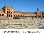 plaza of spain  seville . plaza ... | Shutterstock . vector #1270323190