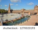 plaza of spain  seville . plaza ... | Shutterstock . vector #1270323193