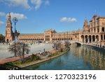 plaza of spain  seville . plaza ... | Shutterstock . vector #1270323196