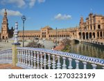 plaza of spain  seville . plaza ... | Shutterstock . vector #1270323199