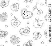 stylized fruit in the shape of... | Shutterstock .eps vector #1270325473