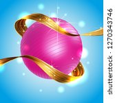 gold ribbon liquid acrylic... | Shutterstock .eps vector #1270343746
